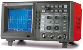 UTD4102C, Осциллограф цифровой, 2 канала х 100МГц, USB, цветной дисплей