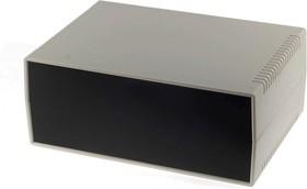 G754, Корпус для РЭА 260х180х105мм, пластик, светло-серый, черная панель