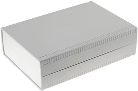 Фото 1/2 G771A, Корпус для РЭА 200х280х80 мм, пластик, светло-серый, алюминиевая панель