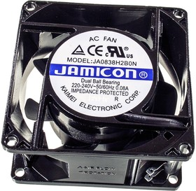 JA0838H2B, Вентилятор 220В, 80х80х38мм, подшипник качения 2400 об/мин
