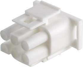 350715-4, Корпус разъема Universal MATE-N-LOK, вилка 6PIN, Matrix (Nylon, UL 94V-0) без контактов