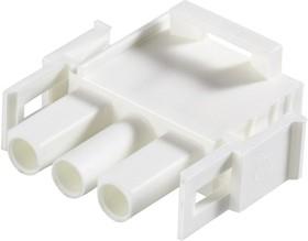 Фото 1/7 350766-4, Корпус разъема Universal MATE-N-LOK, вилка 3PIN, In-Line (Nylon, UL 94V-0) без контактов
