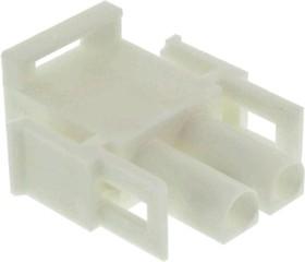 Фото 1/5 350777-4, Корпус разъема Universal MATE-N-LOK, вилка 2PIN, In-Line (Nylon, UL 94V-0) без контактов