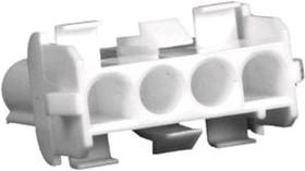 Фото 1/2 350780-1, Корпус разъема Universal MATE-N-LOK, розетка 4PIN, In-Line (Nylon, UL 94V-0) без контактов