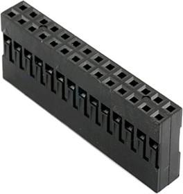 BLD-28 (DS1071 - 2x14), Гнездо на кабель 2х14 с контактами 2.54мм