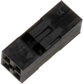 Фото 1/2 BLD-4 (DS1071 - 2x2), Гнездо на кабель 2х2 с контактами 2.54мм