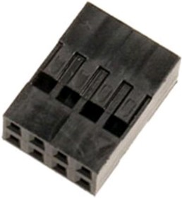 Фото 1/2 BLD-8 (DS1071 - 2x4), Гнездо на кабель 2х4 с контактами 2.54мм