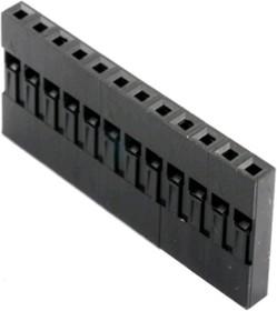 BLS-12 (DS1071-1x12), Гнездо на кабель 1х12 с контактами 2.54мм