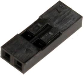 Фото 1/3 BLS-2 (DS1071-1x2), Гнездо на кабель 1х2 с контактами 2.54мм