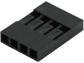 Фото 1/2 BLS-4 (DS1071-1x4), Гнездо на кабель 1х4 с контактами 2.54мм