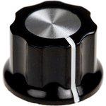 41009-1, D15.7мм, отв. 6мм, Ручка пластмассовая (метал. вставка)