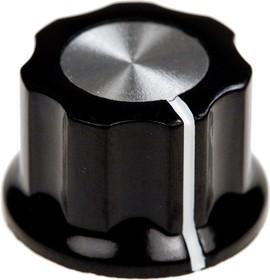 41009-1, D15.7мм, отв. 6.4мм, Ручка пластмассовая (метал. вставка)