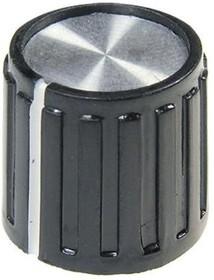 41010-2, D14мм, отв. 6мм, Ручка металлическая (пластмассовая вставка)