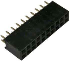 PBD-20 (DS1023-2x10), Гнездо на плату 2.54мм 2х10 прямое