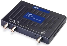 Фото 1/2 АКИП-72204A, USB осциллограф 2 канала х 10МГц (Госреестр)