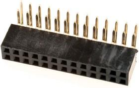 PBD-26R (DS-1024 - 2X13 - R), Гнездо на плату 2.54мм 2х13 угловое