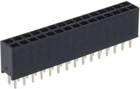 PBD-30 (DS-1023 - 2X15), Гнездо на плату 2.54мм 2х15 прямое