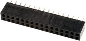 PBD-32 (DS-1023-2X16), Гнездо на плату 2.54мм 2х16 прямое