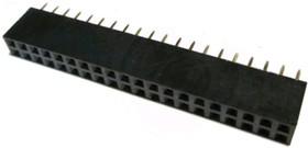 PBD-40 (DS1023-2X20), Гнездо на плату 2.54мм 2х20 прямое | купить в розницу и оптом