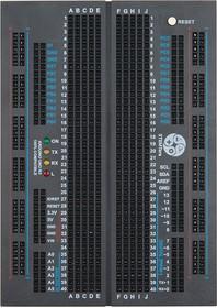 Фото 1/6 STEMTera Arduino Breadboard [black], Макетная плата на 400 точек cо встроенной Arduino Uno