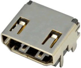 HDMI-19R (DS1114-BN0), Розетка 19pin на плату (SMD)