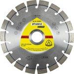 Круг алмазный KLINGSPOR DT 600 U SUPRA (322634) Ф230х2.6х22мм сегментный