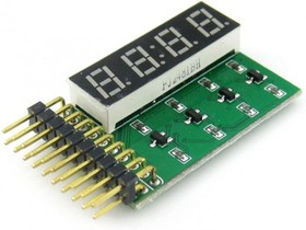 8 SEG LED Board, Плата LED display 4-digit 8-segment
