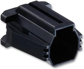 Фото 1/2 DF62P-7EP-2.2C, Корпус разъема, черный, монтаж в панель, Серия DF62, Штекер, 7 вывод(-ов), 2.2 мм