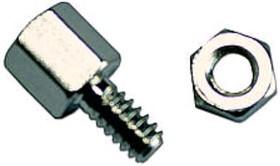 Фото 1/2 SCR-15 (СА-0240), комплект 1+1, Винт шестигранный с внутренней резьбой, L=5мм, крепеж D-SUB