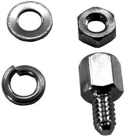 SCR-15 (СА-0240), комплект 1+1+2, Винт шестигранный с внутренней резьбой, L=5мм, крепеж D-SUB