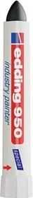 Фото 1/2 Edding 950#1 (черный), Маркер промышленный, пигментная паста, 10 мм, блистер