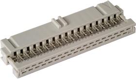 3-215919-4 (IDC-34F), Розетка 2.54мм на шлейф без фиксатора кабеля, Gold(8)