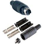 """KLS1-294-M-03-B, Разъем mini DIN 3 pin """"шт"""" пластик на кабель"""