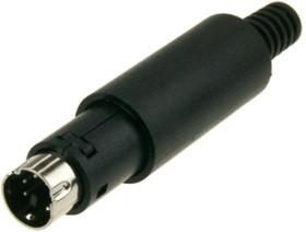 """Фото 1/2 KLS1-294-M6--B (MDN-6M) (AF-2130), MiniDIN-6""""п"""" на кабель"""