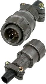 Фото 1/3 2РМТ18КПН7Ш1В1В, Вилка на кабель с прямым патрубком для неэкранированного кабеля