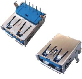 USB 3.0 A (DS1095-05), Розетка на плату угловая