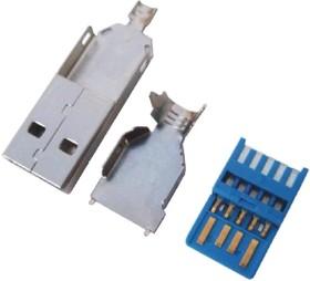 USB 3.0 A (DS1107-01), Вилка на кабель
