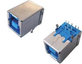 USB 3.0 B (DS1099-02), Розетка на плату угловая