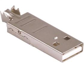 Фото 1/3 USB-A (DS1107-W), Вилка на кабель (белая), тип А