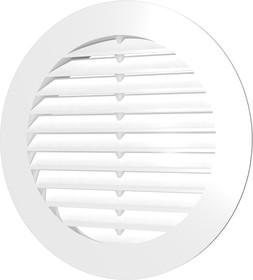 15РК, Решетка вентиляционная круглая D200 вытяжная АБС с фланцем D150