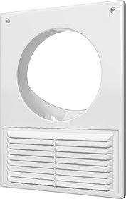 1825РУ, Решетка вентиляционная АБС 184х254 с фланцем D125, бел.