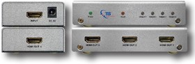 875230, Разветвитель HDMI 1 в 4 TLS HDMI 4K Splitter 1/4