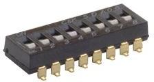 Фото 1/2 SDA08H1SBDR, 8 Way Surface Mount DIP Switch SPST, Raised, Slide Actuator