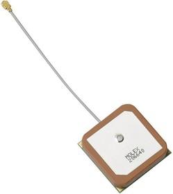 206640-0001, Antenna, Flat Patch, 1.607 GHz to 1.597 GHz, 4.5 dBi Gain, Adhesive, Right Hand Circular | купить в розницу и оптом