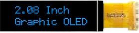 MCOT256064DY-BM, Графический OLED дисплей, 256 x 64 Pixels, Синий на Черном, 3В, I2C, Параллельный, SPI