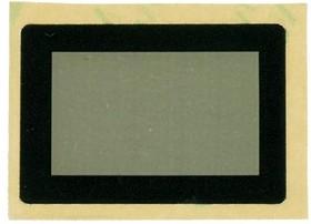 Фото 1/2 FFS28x19B-21.7x13M, Лицевая панель плёночная чёрная 28х19 мм, матовое окно 21.7х13 мм