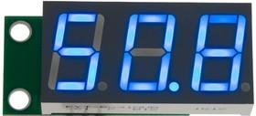 SVH0043UB-100, Вольтметр 0..99,9 В, ультра яркий голубой индикатор