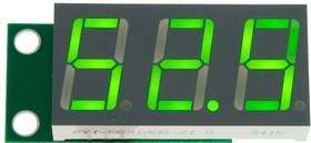 SVH0043UG-100, Вольтметр 0..99,9 В, ультра яркий зелёный индикатор