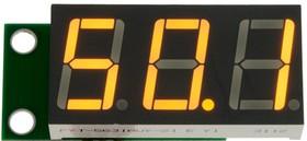 SVH0043UY-100, Вольтметр 0..99,9 В, ультра яркий желтый индикатор