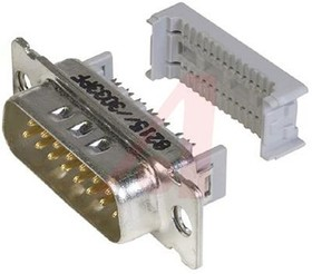 8215-6000, Conn D-Subminiature PIN 15 POS 2.76mm IDT RA Cable Mount 15 Terminal 1 Port